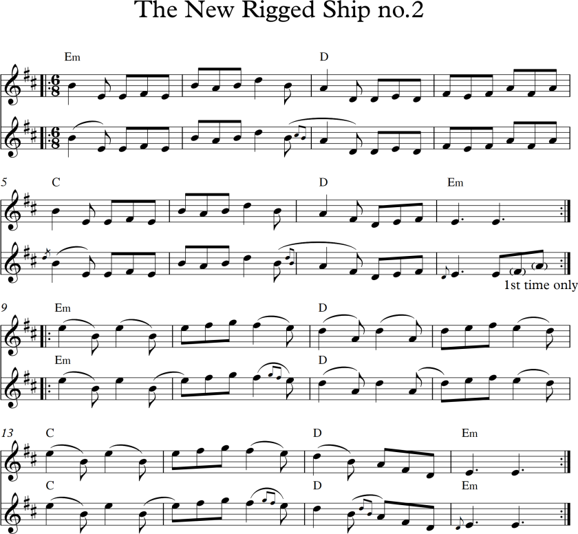 The New Rigged Ship no 2