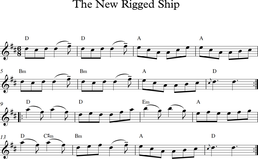 the new rigged ship in d