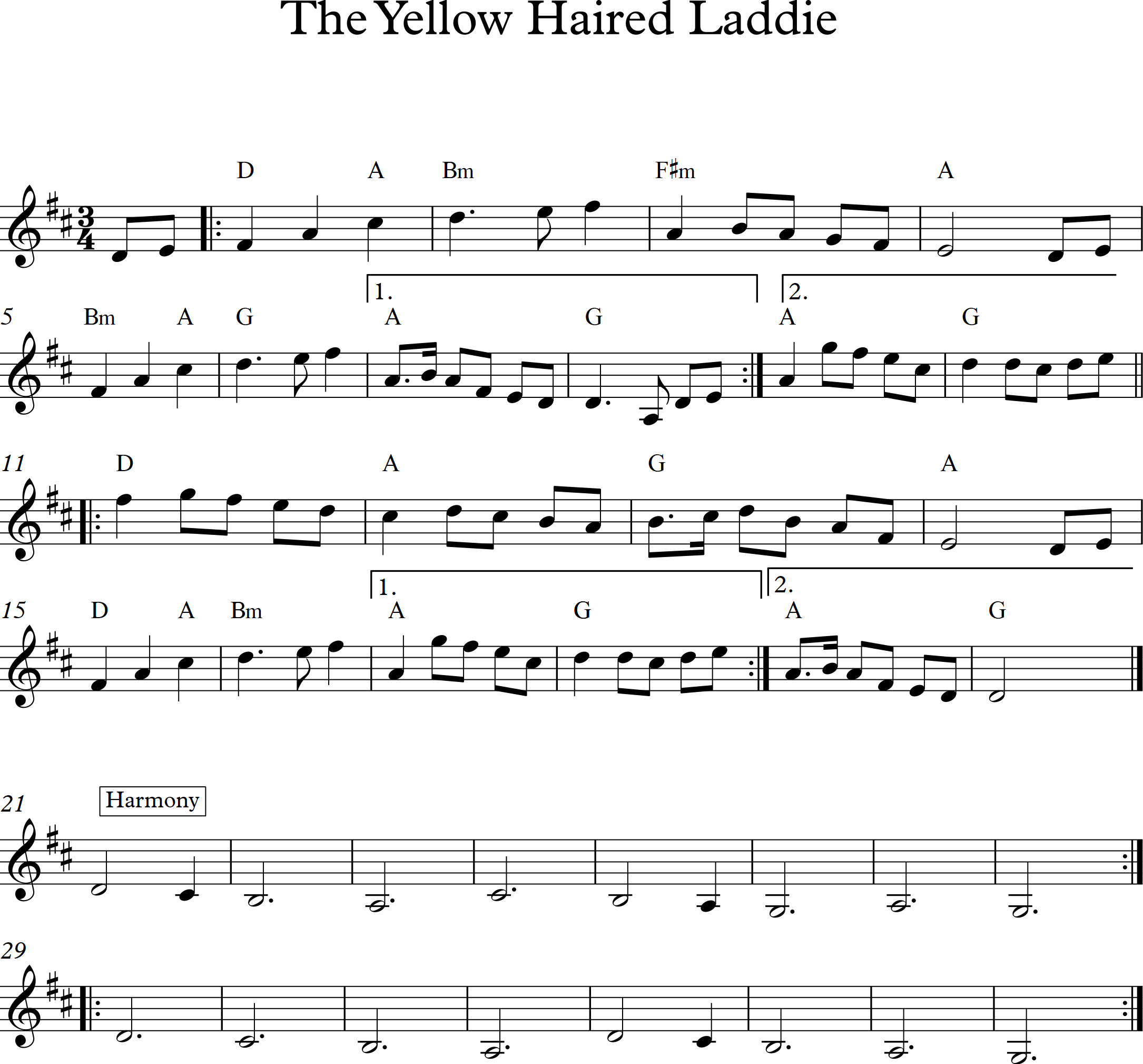 The Yellow Haired Laddie